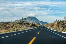 Road Leading To El Pizarro Volcano, Puebla, Mexico