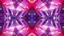 Abstract Waving 3D Polygonal Red Violet Grid Or Mesh Of Pulsating Geometric