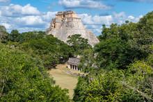 The Maya Ruins Of Uxmal, UNESCO World Heritage Site, Yucatan, Mexico