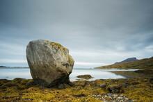 Large Rock At Low Tide, West Senja, Norway, Scandinavia