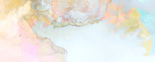 Art Photography Of Abstract Fluid Art Painting With Alcohol Ink, Pastel Colors