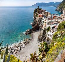 Picturesque Village Of Vernazza In Cinque Terre, UNESCO World Heritage Site, Province Of La Spezia, Liguria Region, Italy