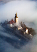 Lake Bled In The Julian Alps Of The Upper Carniolan Region, Northwestern Slovenia