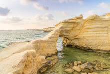 Coastal Seascape At Sunset In Paphos, Cyprus