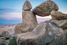 Balanced Rock At Sunset, Big Bend National Park, Texas, United States Of America