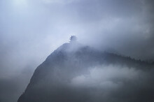 Misty Pagoda In The Fog On Top Of Emeishan, Sichuan, China
