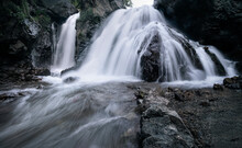 Imlil Hidden Waterfall On The Slopes Of Jebel Toubkal Mountain, Morocco, North Africa