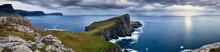 Panoramic On The Coast Of The Isle Of Skye And Nest Point Promontory, Isle Of Skye, Inner Hebrides, Scotland, United Kingdom