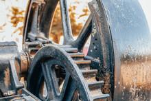 Retro Steam Tractor Engine Gears