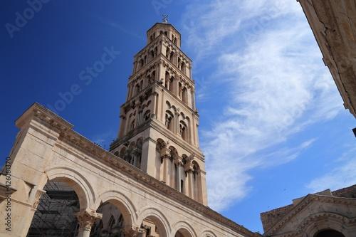 Papel de parede Croatia landmarks. Split campanile, Croatia landmark