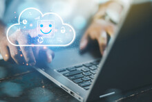 Businessmen Investing In Cloud And AI Technology Database Systems For Online Business Processing.