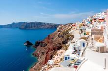 Cityscape Of Oia Village, Santorini Island, Greece