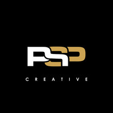 PSP Letter Initial Logo Design Template Vector Illustration