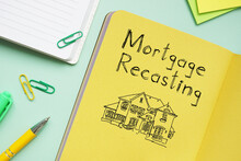Mortgage Recasting Is Shown On The Photo Using The Text