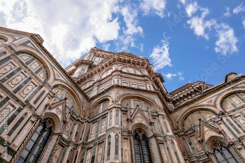 Tela Facade of Cattedrale di Santa Maria del Fiore (Duomo) with Campanile di Giotto -