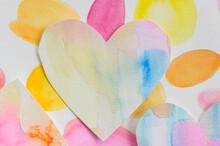 Studio Shot Of Colorful Paper Heart