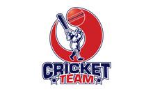 Cricket Team Logo. Creative Cricket Icon Logo Vector.