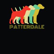 Patterdale Dog Breed Lover Vintage Look Wo Tri Blend Illustrator Vector Poster Design