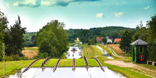 Fototapeta Kanał Elbląski - Pochylnia obraz