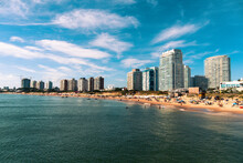 Punta Del Este And Beautiful Beach In Uruguay
