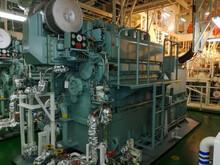 Inside Engine Room On Big Ship, Engine Room Interior Of A Big Ocean Going Ship