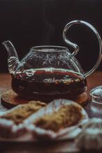 Tea Time, Green Tea, Sweet, Black Tea, Tea, Cup, Teapot, Tea Party, Sweets, Cakes, Lemon, On The Table, Table, Still Life, Brown, Green, Flatley