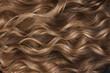 Leinwandbild Motiv A closeup view of a bunch of shiny curls blond hair
