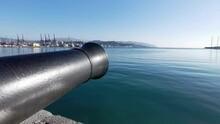 Cannon On Morin Walk In La Spezia, Italy