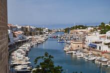 Port Of Ciudadela (Ciutadella) On The Island Of Menorca. Spain.