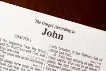 The Gospel Of John Title Page Close-Up