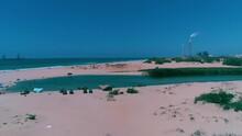 Small Lake On The Zikim Beach In Israel
