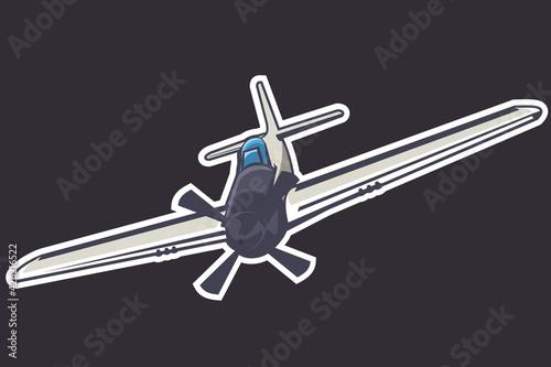 Obraz na plátne American world war II long-range, single-seat fighter and fighter-bomber aircraf