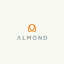 Almond Nut Logo Vector Design
