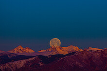Moonset Over Indian Peaks, Colorado