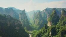 4K Aerial Avatar Mountains Of Zhang Jia Jie