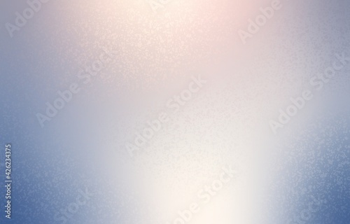 Frosted glass half transparent textured background. Delicate blue light empty abstract template.