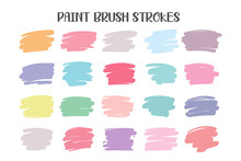 A Colored Brush That Is Painted As A Text Box. Isolated On White Background