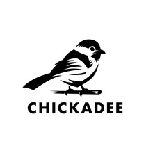 Chickadee Bird Logo Vector Icon Illustration