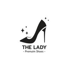 Elegant Lady Shoe Logo Design