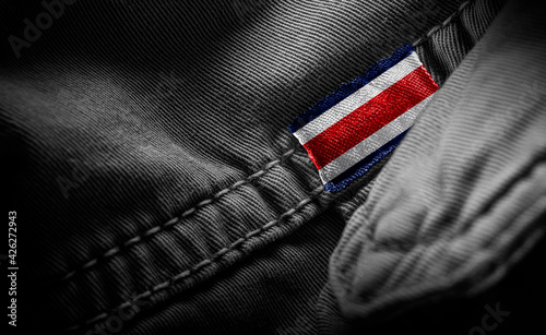 Photo Tag on dark clothing in the form of the flag of the Costa Rica
