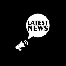 Latest News Icon Isolated On Dark Background