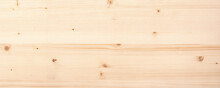 Light Wood Texture With A Natural Pattern. Panoramic Wooden Background