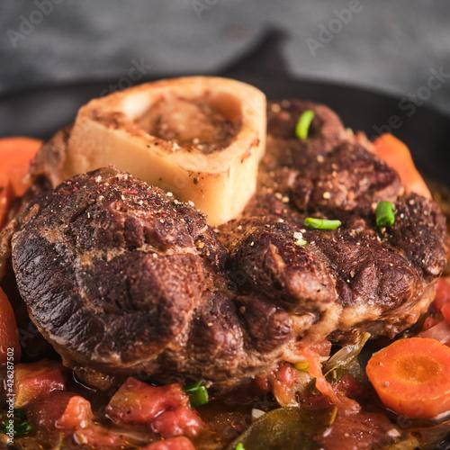 Fotografie, Obraz Beef Leg Slice with marrow