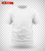 T-shirt Blanc Vectoriel Sur Fond Transparent