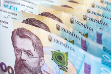 A Thousand Hryvnia Bills. Ukrainian Paper Currecy, Image For Fiance Background