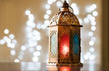 Ramadan Background With Beautiful Lantern