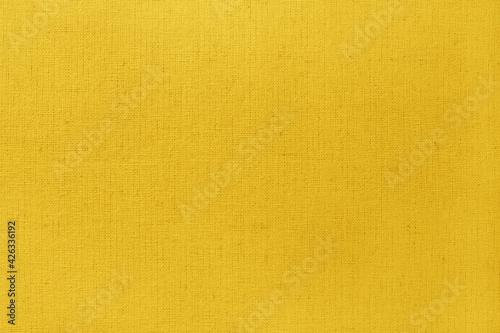 Yellow cotton fabric texture background, seamless pattern of natural textile. - fototapety na wymiar