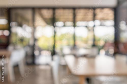 Billede på lærred cafe restaurant interior blur for background