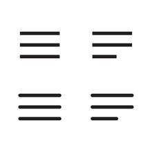 Hamburger Menu Bar Line Art Vector Icon For Apps And Websites