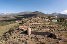 Restos Del Antiguo Castillo De Zalia En La Provincia De Málaga, España